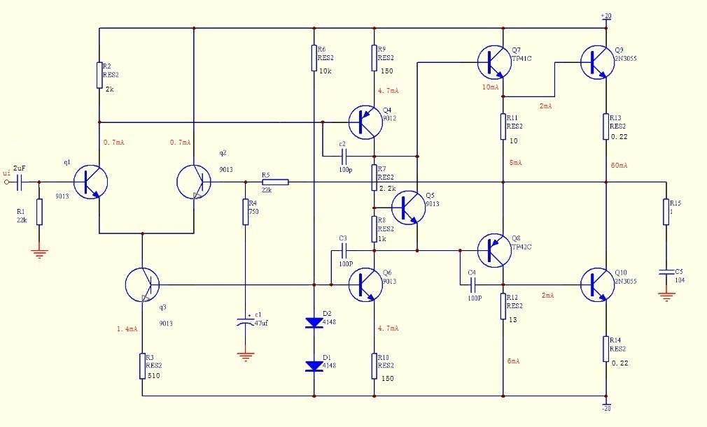 高频功率放大器原理图
