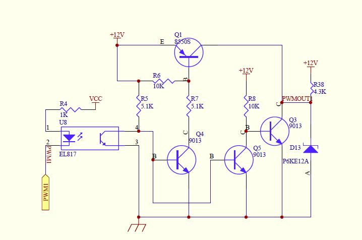 pwm光耦隔离电路设计