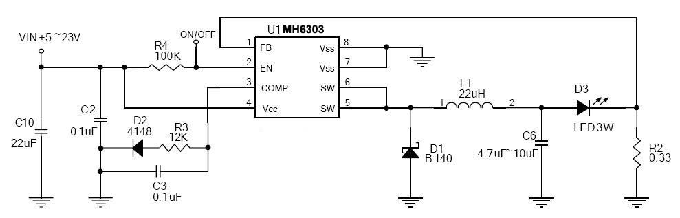 mos管led驱动电路图