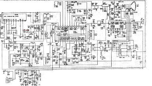 黑白电视机电路图