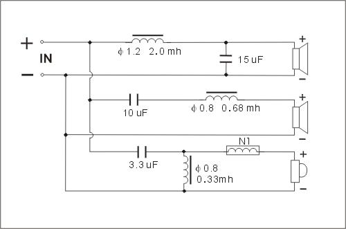 惠威三分频器电路图