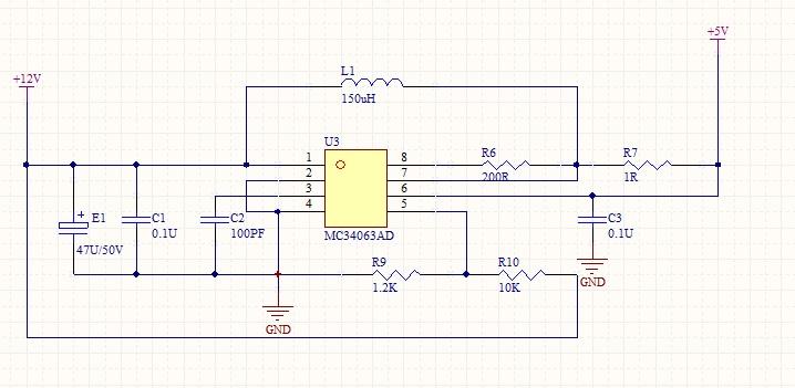 mc34063升压9v电路图