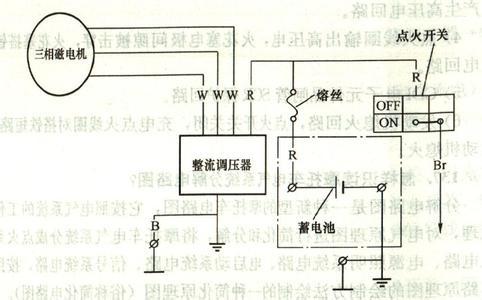 摩托车调压器电路图