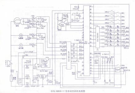 三洋滚筒洗衣机电路图