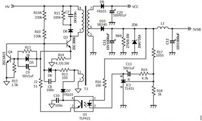 长城电源300p4电路图