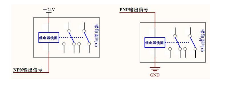 4脚24v继电器接线图