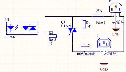交流固态继电器原理图