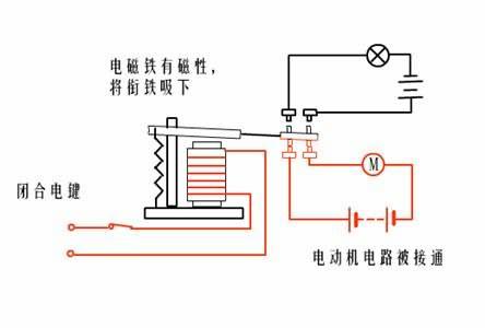 电磁继电器的电路图